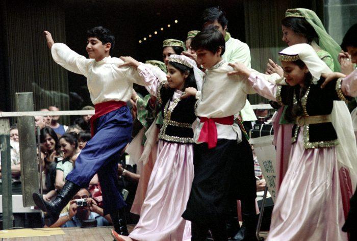 Armenian American dancers