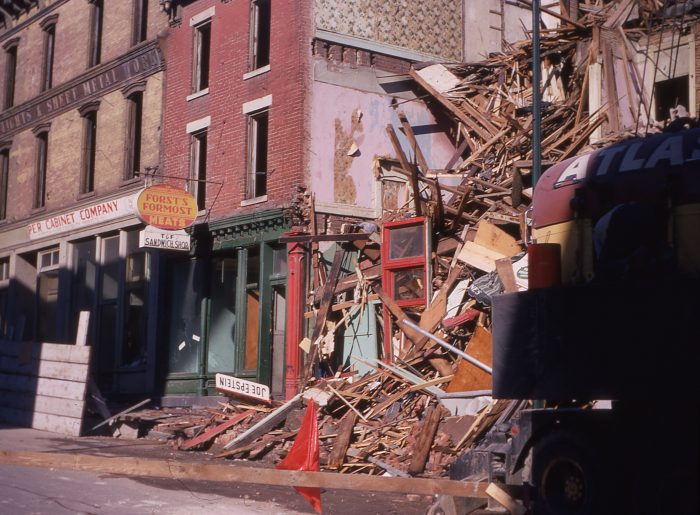 Photo of a demolished store
