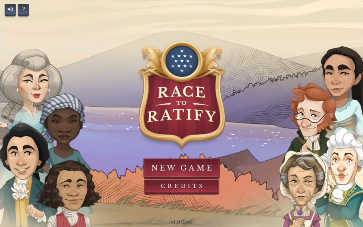 Race to Ratify game homepage